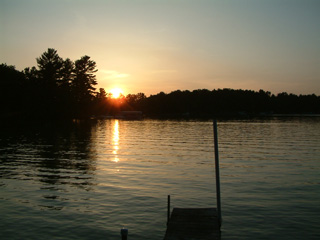 Photo of sunset at the cottage